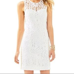 Lilly Pulitzer Mika shift dress in resort white